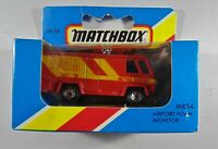 1983 Matchbox MB 54 Airport Foam Monitor  In Box Diecast Red Van