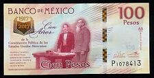 Banco de Mexico 100 Pesos, NEW COMMEMORATIVE Banknote Centennial of Constitution