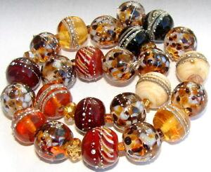 """Sistersbeads """"C-Safari"""" Handmade Lampwork Beads"""