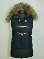 WOMENS ABERCROMBIE AND FITCH WAISTCOAT HOODY ZIP 50%DOWN SIZE S EXCL