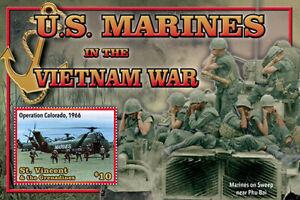 YEAR 2020/11-ST VINCENT - VIETNAM WAR US MARINES     1V complet set    MNH ** T