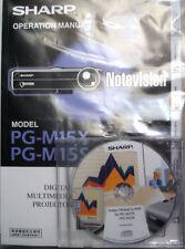 Sharp PG-M15X PG-M15S AN-PGCM85 Notevision Digital Multimedia Projector Manuals