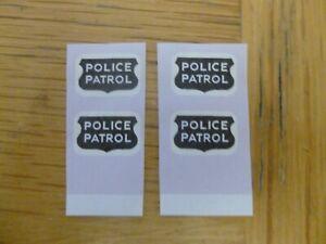 Corgi 481 Chevrolet Police Patrol car replacement door sticker paper labels