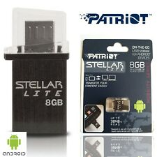 Patriot Stellar Lite 8GB Flash Drive for Micro USB Android Black Memory Card