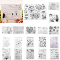 Transparent Clear Silicone Stamp for DIY Scrapbooking Stamp Sheet Craft Mould
