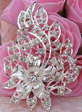 Women Large Crystal Rhinestone Brooch new