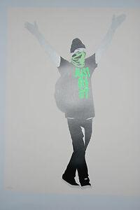 Pure Evil Street Art 'Just Riot' Flouro Green 2015 Print