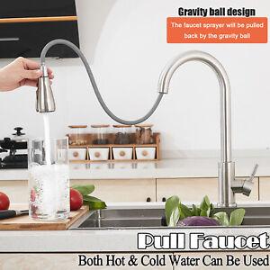 Modern Kitchen Sink Mixer Taps Swivel Spout Single Lever Mono Faucet Waterfall