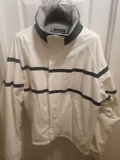 Nautica Reversible Jacket Fleece Mens White Navy/Gray Fleece X-Large XL vintage