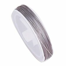90M Flexible Silver Jewelry Cord Tiger Tail Being Wire 0.45MM ED