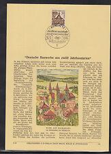 DE 98 ) herrlicher Privat ETB Berlin 1964 Deutsche Bauwerke Schlosstor Ellwangen