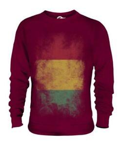 Guinea Descolorido Bandera Unisex Suéter Guin ? E Guineano Gine Camiseta Fútbol