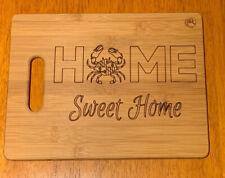 Maryland Crab Cutting Bamboo Board - Home Sweet Home