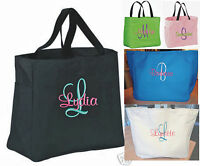 4 Personalized Tote Bag embroidered Bridal Bridesmaid Gift Wedding PARTY BRIDE