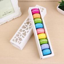 10X Pierced Macaron Cookie Cake Chocolate Box Wedding Party Gift Packing Box bhe