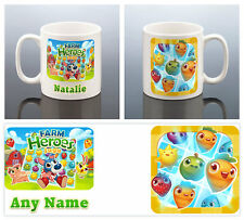 FARM HEROES SAGA FACEBOOK GAME APP MUG Gift Birthday Present Her Him Women Men
