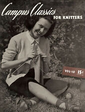Bear Brand Special #10 c.1940 - Campus Classics for Knitters, Vintage Knitting