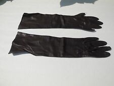 *WEAR RIGHT LADIES BROWN  LEATHER DRESS  GLOVES UNLINED SIZE 6