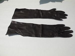 **WEAR RIGHT LADIES BROWN  LEATHER DRESS  GLOVES UNLINED SIZE 6