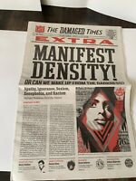 Shepard Fairey Obey Giant THE DAMAGED TIMES Newspaper Poster Promo Art 26 Pages
