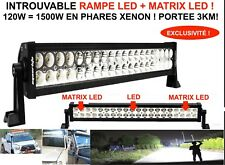 PORTEE 3KM! RAMPE BARRE PHARE LED + MATRIX LED 120W LAND PAJERO PATROL JEEP HDJ