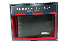 Tommy Hilfiger Men's Leather Wallet Passcase Bifold 31HP13X003 Black New NWT