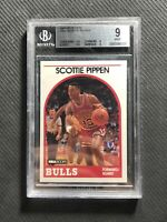 1989-90 NBA HOOPS SCOTTIE PIPPEN RARE SECOND YEAR #244 BGS 9 MINT