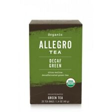 3 boxes Allegro DECAF GREEN TEA Herbal Tea - 20 bags / 1.4oz Ultra-mellow decaf