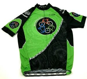Re-Cycling Utah Cycle Jersey Size 2XL XXL Green Adult Full Zip Shirt Cycling Tee