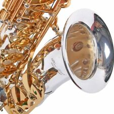 Karl Glaser Alt Saxophon versilbert mit Messingklappen, inkl. Koffer + Mundstück