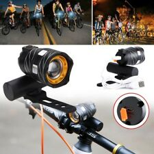 Bicycle Bike USB Rechargeable LED Front Light Torch Super Bright Safety