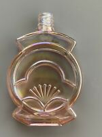 Vintage Pink Clear Glass Perfume Bottle No Stopper