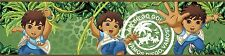 GO DIEGO Wallpaper Wall BORDER Room Decor Decals Green Jungle Peel Stick Sticker