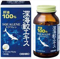 ORIHIRO Deep Sea Shark SQUALENE 180 Soft Capsules JAPAN F/S