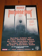 JUSTIN BIEBER - 2017  Purpose Australian Tour - Laminated Poster - NEW RELEASE