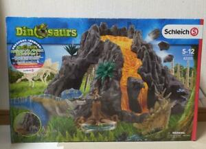 Schleich (42305) Dinosaurs Giant Volcano with T-Rex, Play Set Japan