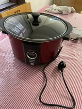 Morphy Richards Sear and Stew Digital Slow Cooker 6.5L 461012 Red Slowcooker