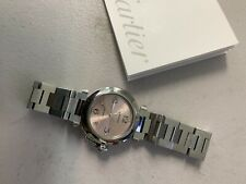 Cartier Pasha 2324 Stainless Steel Automatic 35mm Watch Pink Dial - No Reserve
