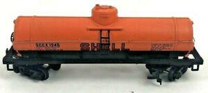 TYCO Ho Scale Model Trains SHELL Single Dome Tanker Tank Car Train - SEE PHOTOS