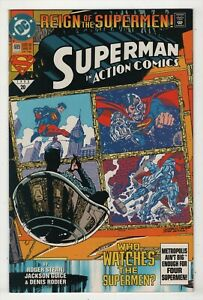 Action Comics #689 NM 9.4 high grade 1st appearance Superman in black suit 1993