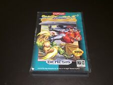 Street Fighter II w/Case Sega Genesis Cleaned & Tested