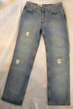Ralph Lauren Polo Jeans Destructed Patched 8 x 31 NWT Women's Denim
