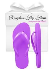 Womens Wholesale Bulk Wedding Guest Flip Flops, Purple, 24 Pairs Assorted Sizes