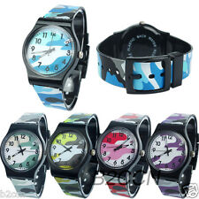 Children Girls Boys Watch Digital Silicone Camouflage Quartz Kids Wrist Watches