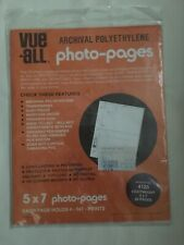 Archival Polyethylene Photo Pages 5x7 Photo Pages