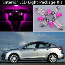 7PCS Bulbs Pink LED Interior Car Lights Package kit Fit 2010-2013 Mazda 3 J1