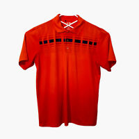 adidas Pure Motion Golf Polo Short Sleeve Mens Size L Coral