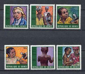 s12292) GUINEA GUINEE 1970 MNH** Smallpox & Measles 6v