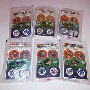 Set of 6 Burger King Kids Meal Toys 1993 Transformers Z Bots Club Caps Kids Toys