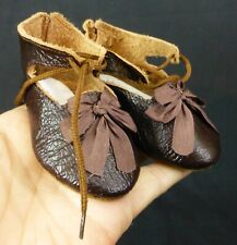 """95mm DB LEATHER SHOES  for ANTIQUE DOLL ,  """"Jumeau"""" Shoes , Doll Clothes"""